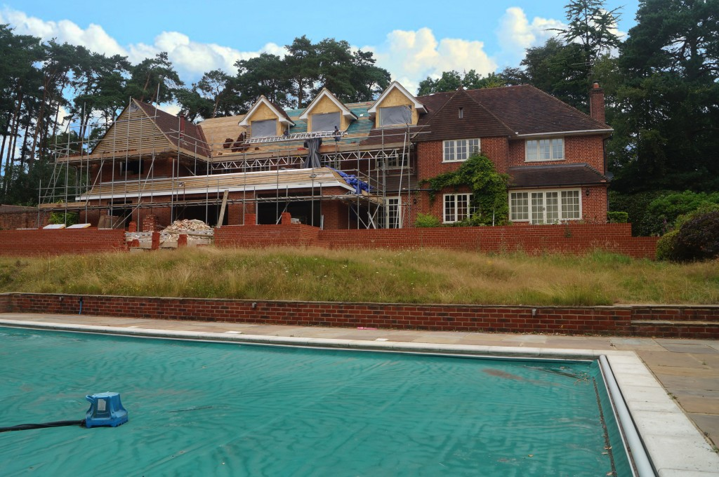 House construction Farnham Surrey
